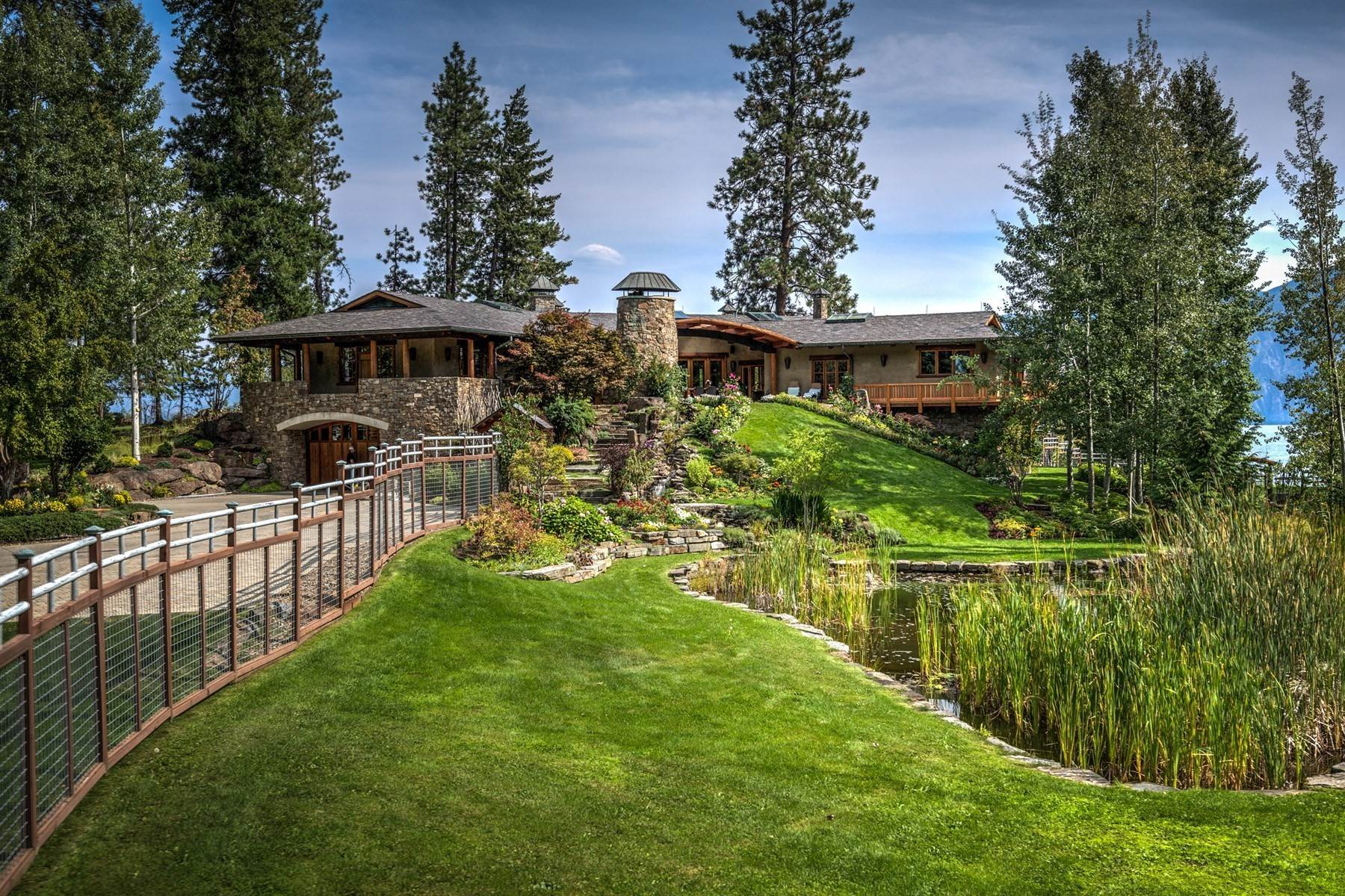 Single Family Homes por un Venta en Loch Haven Estate 552 Loch Haven Sagle, Idaho 83860